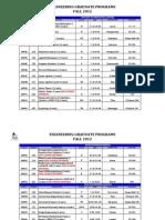Fall 2012 Schedule