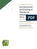 FEUC Informe Ranking