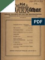 Die Spielschar - Amtliche Zeitschrift Fuer Feier- Und Freizeitgestaltung - 10. Jahrgang Heft 11 (1937, 42 S., Scan, Fraktur)