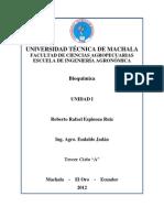 Unidad i - Bioquimica - Roberto Espinoza Ruiz