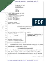 HOUSTON CASUALTY COMPANY v. ILLINOIS UNION INSURANCE COMPANY Complaint