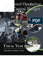 City of San Antonio FY 2013 Proposed Budget