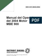 Manual Del Operador Motor Mbe 900