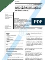 NBR 13716 - Equipamento de Protecao Respiratoria - Mascara Autonoma de Ar Comprimido Com Circuito