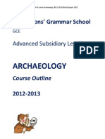 As Archaeology Specification