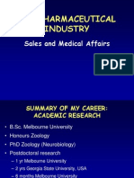 The Pharmaceutical Industry-Sales and Medical Affairs