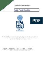 SAFE Food Safety Audit Checklist