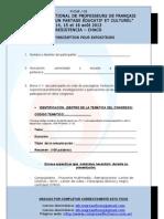 Ficha 2 de Inscripcion Para Expositores Disertantes Para Congreso Fle 2013 Formato Final