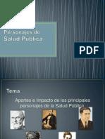 Personajes de Salud Publica. Sem 1 y 2