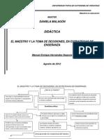 EL MAESTRO Y LA TOMA DE DECISIONES, EN ESTRATEGIAS DE ENSEÑANZA