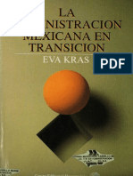 La administracion mexicana en transicion