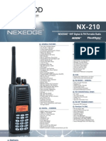 Kenwood NX-210 Nexedge VHF Product Brochure