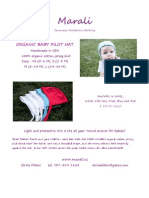 Organic Pilot Hat - Product Sheet