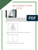 How to Make a Christmas Tree Pop Up Card
