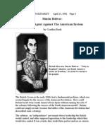 Simon Bolivar vs American System