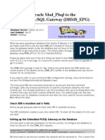 Oracle DBMS EPG configuration
