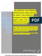 BIO-MEDICAL-ELECTRONICS, OPERATIONAL-AMPLIFIER'S[or OP-AMP's], BIO-MEDICAL-DESINING-PROBLEMS-WITH OP-AMP's, PART-2-OF-5