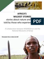 AFRICA'S WILDEST STORIES presentation