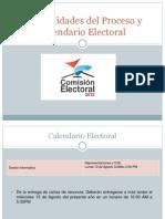 Puntualidades Del Proceso y Calendario Electoral