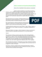 Necesidad de indicadores económicos en la gestión ambiental global