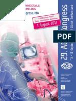 Kniespezialist PD Dr. Sven Ostermeier spricht auf dem Kongress der Gesellschaft für Arthroskopie und Gelenkchirurgie in Zürich