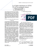 Cancellation of Zigbee interference in OFDM based WLAN for multipath channel