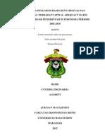 ANALISIS PENGARUH RASIO RENTABILITAS DAN LIKUIDITAS TERHADAP CAPITAL ADEQUACY RATIO (CAR) PADA BANK PEMERINTAH DI INDONESIA PERIODE 2003-2010