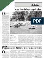 Fronteira Agrícola e Pecuária