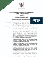 KMK No. 373 Ttg Standar Profesi Sanitarian