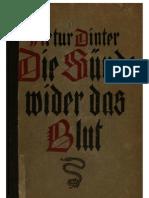 Dinter, Artur - Die Suende Wider Das Blut (1921, 362 S., Text)