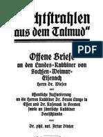 Dinter, Artur - Lichtstrahlen Aus Dem Talmud (1920, 84 S., Scan, Fraktur)