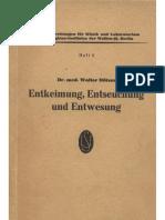 Doetzer, Walter - Entkeimung, Entseuchung Und Entwesung (1943, 177 S., Scan)