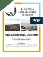 Public Works Director-City Engineer Job Flyer