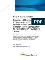 Migration of Microsoft Dynamics AX Version Control System Content From Microsoft Visual SourceSafe to Microsoft Team Foundation Server MigrateAX2009VCSfromVSStoTFS