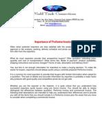 Importance of Proforma Invoice