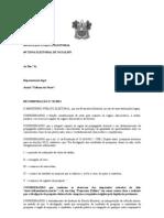 RECOMENDAÇÃO N 01 PESQUISA ELEITORAL JORNAL TRIBUNA DO NORTE