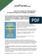 """Communiqué de Presse """"Comment sortir de la société de consommation"""" - 2011"""
