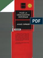 DUPAQUIER Jacques. Pour l'Histoire Demographique