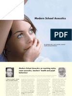 Acoustic Ergonomics of Schools research report by Bremen University, Germany.