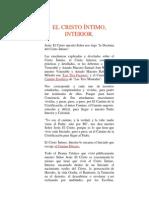 EL CRISTO ÍNTIMO, INTERIOR