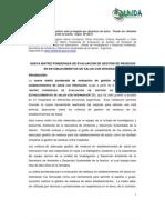 NUEVA MATRIZ PONDERADA DE EVALUACIÓN DE GESTIÓN DE RESIDUOS EN ESTABLECIMIENTOS DE SALUD CON INTERNACIÓN_Secretaría de Ambiente y Desarrollo Sustentable de la Nación.  Argentina_2011