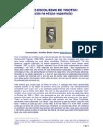 Lista completa dos títulos das obras escolhidas de Vigotski