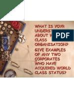 World Class Organization_ppt