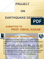 Project Report on Earthquake Detector