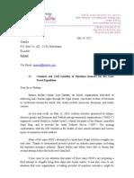 Shurat HaDin's letter to Finnish insurance company Alandia Marine July 29