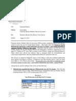 Heinrich/ Wilson US Senate, Public Poll Memo 8-14-12