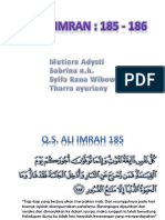 Presentasi Ali Imran 185