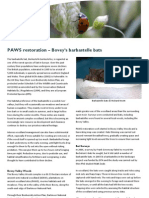 Bovey Valley - PAWS Restoration & Bats