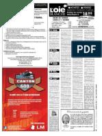 Petites annonces et offres d'emploi du Journal L'Oie Blanche du 15 août 2012