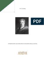 Schelling - Introduzione Alle Idee Per Una Filosofia Della Natura